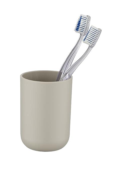 Wenko Brasil Vaso para Cepillos de Dientes, Elastómero Termoplástico (TPE), Gris y