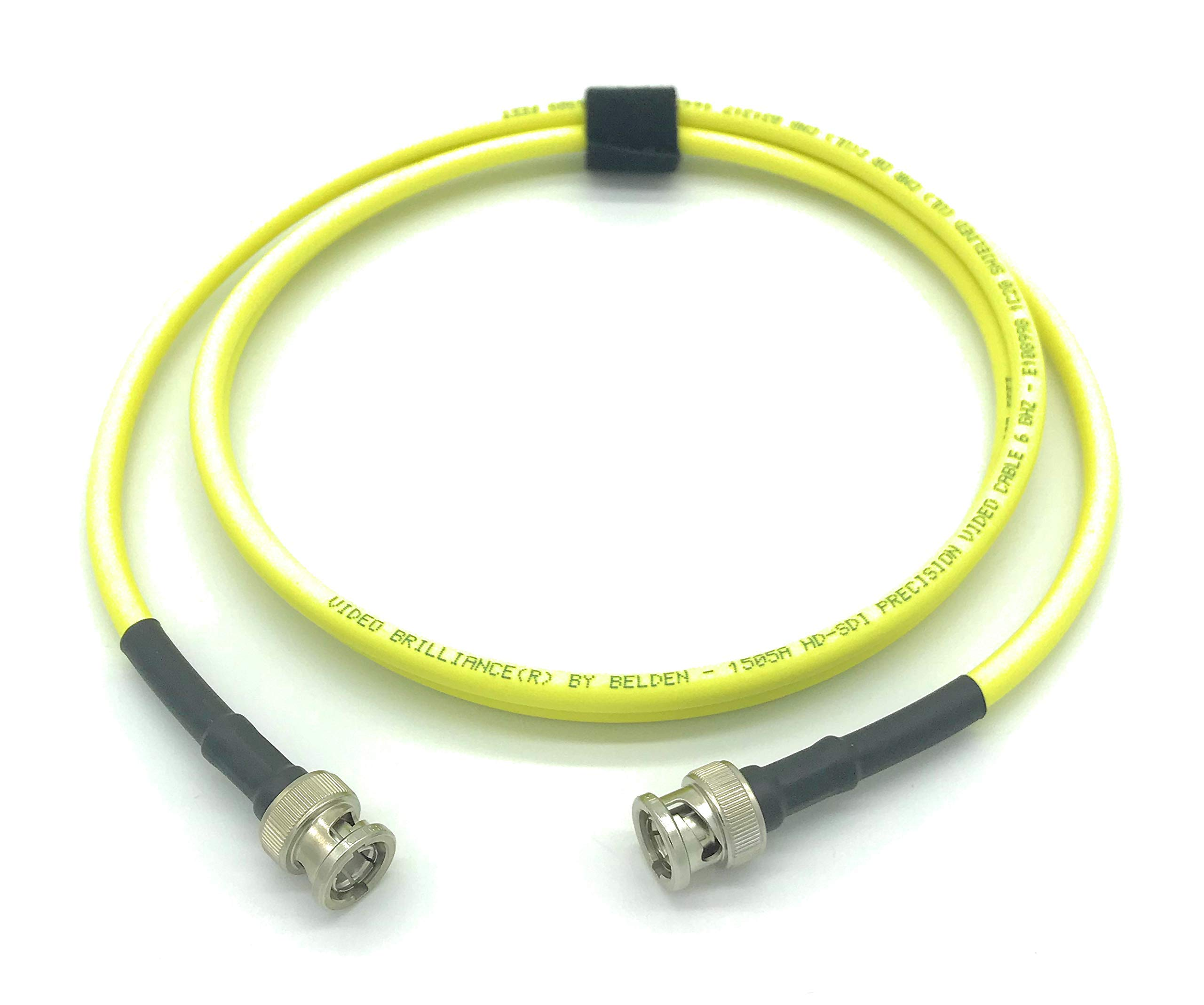 200ft AV-Cables 3G/6G HD SDI BNC Cable Belden 1505A RG59 - Yellow (200ft) by AV-Cables