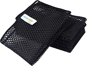 SUNLAND Netted Dish Cloths for Washing Dishes No Odor Dishes Scrubber for Kitchen-Fast Drying and Easy to Clean Mesh Dishes Cloth 6 Pack 12Inch x12Inch Black