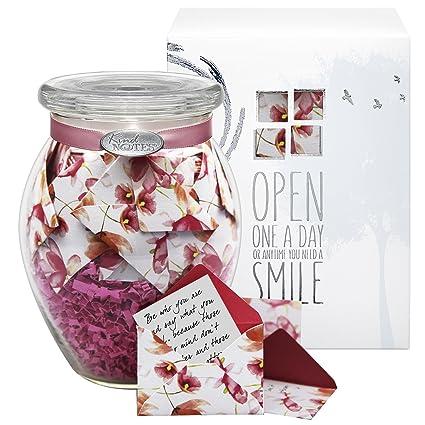 amazon com kindnotes glass sympathy keepsake gift jar of messages
