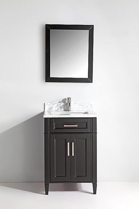 Charmant Vanity Art 24 Inch Bathroom Vanity Set With Carrara Marble Stone With Free  Mirror VA2024