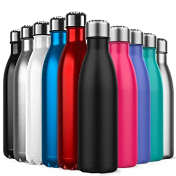 Invool Macreal Botella de Agua de Acero Inoxidable,diseño de ...