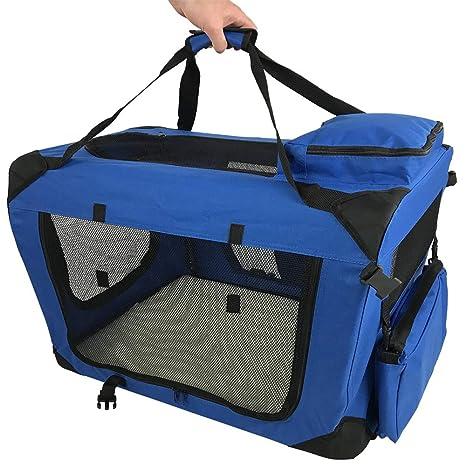 RayGar Transportín suave, rígido, plegable y portátil para mascotas, perros y gatos,