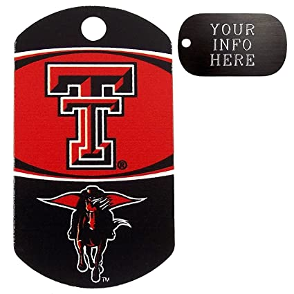 the best attitude fdd04 dc23f Amazon.com  Customized Texas Tech Red Raiders NCAA Pet Tag - Military  Shape  Everything Else