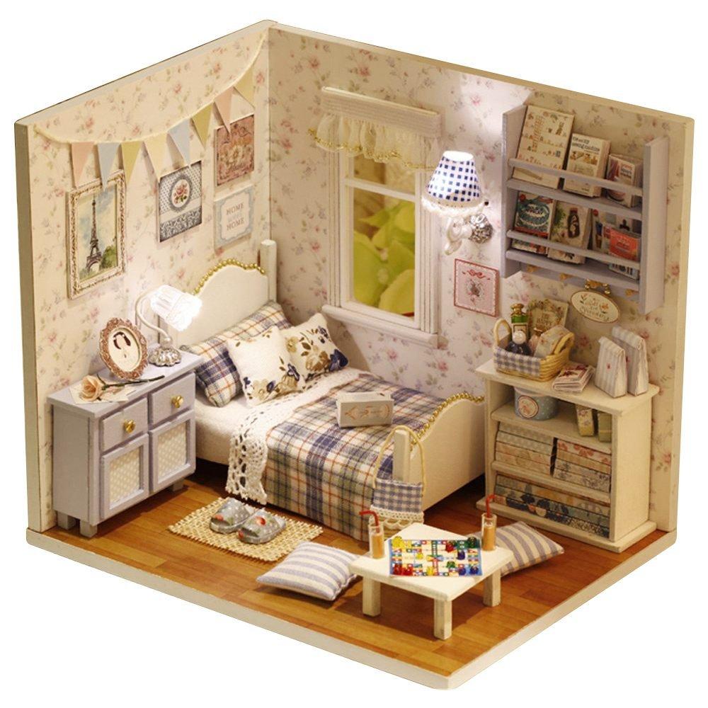 TOOGOO Debordement de soleil 3D bricolage en bois Maison de poupee meubles a la main Puzzle Miniature meubles jouet cadeau