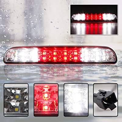 Red LED 3rd Third High Mount Brake Light For Ford F-250 F-350 F-450 F-550 Super Duty Ranger Explorer Sport Trac Mazda B-Series (Chrome Housing Red Lens): Automotive