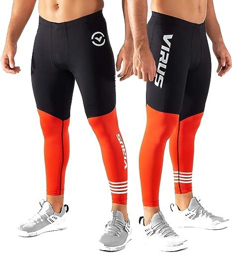 0996b5e7f5 Virus RX8.5 Stay Cool Compression Pants Black/Blood Orange at Amazon ...