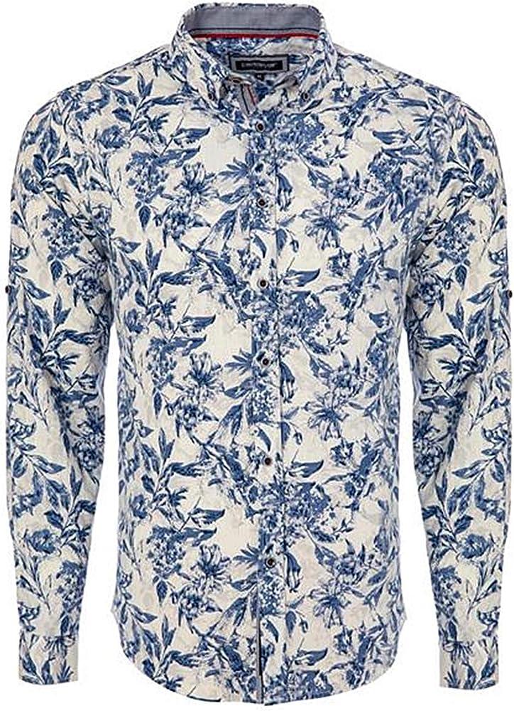 Carisma CRM8488 - Camisa para hombre (lino, tallas S - XXL) azul/blanco S: Amazon.es: Ropa y accesorios