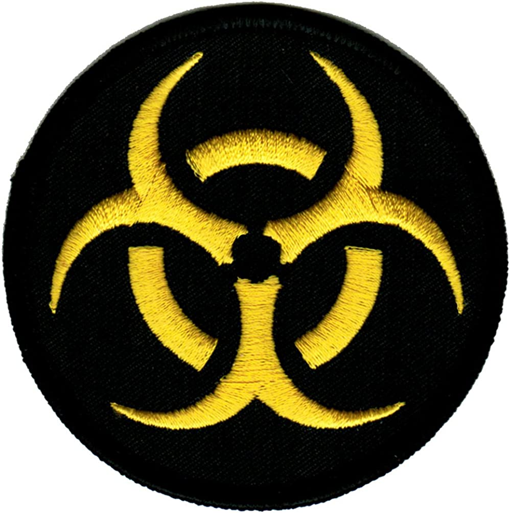 Patch Iron On Biological Hazard Biohazard Embroidered Patch