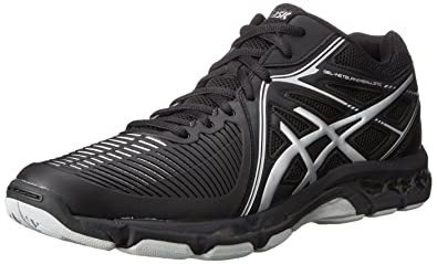 ASICS Men's Gel-Netburner Ballistic MT Volleyball Shoe, Black/Silver, ...