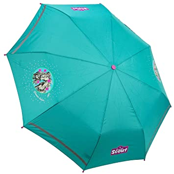 Scout Kinder Regenschirm Taschenschirm Schultaschenschirm Mit Reflektorstreifen Verschiedene Stile Kleidung & Accessoires