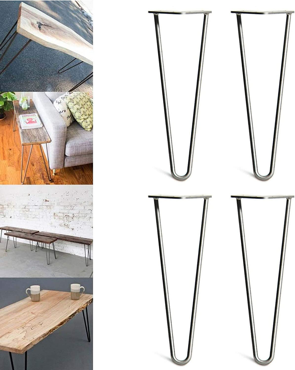 hairpin table legs raw steel UK product retro industrial design 6 sizes