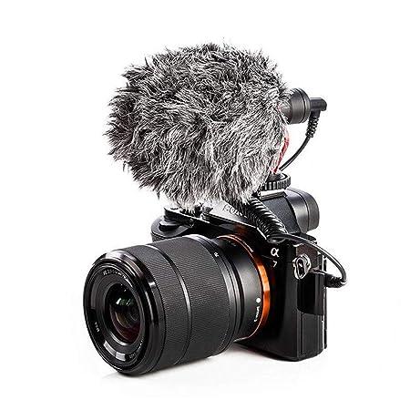 SHUTAO - Condenador de micrófono de vídeo para cámara réflex ...