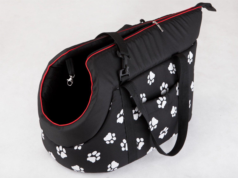 Hobbydog Tor bwl1/Borsa da Trasporto per Cani e Gatti Marrone con Zampe 27/x 25/x 43/cm