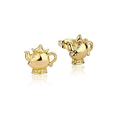 a56258046 Disney Couture Beauty & the Beast Gold-Plated Mrs Potts Teapot Stud Earrings:  Amazon.co.uk: Jewellery