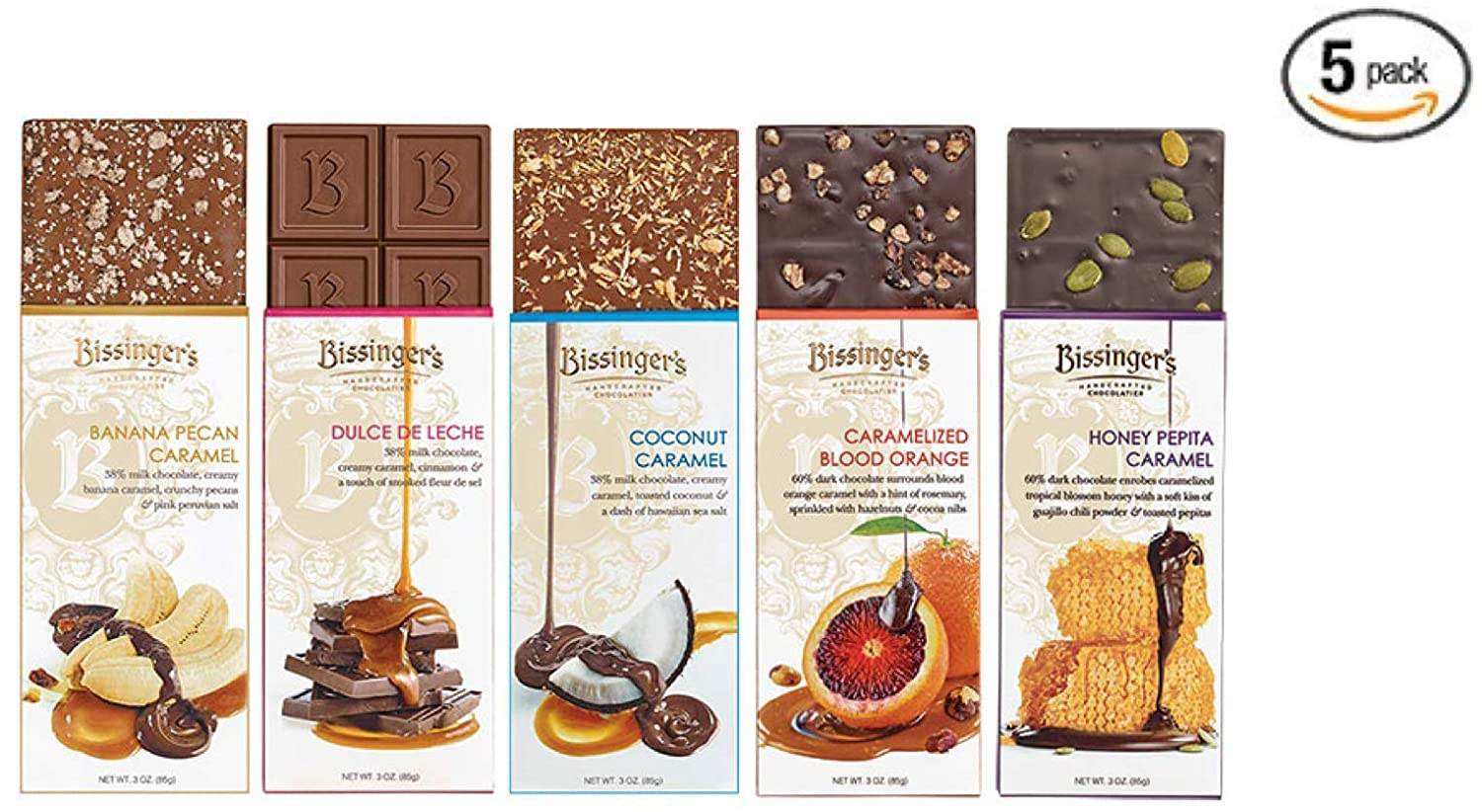 Amazon.com : Bissingers Chocolate Gift Set (6-Pack) - 3 Milk & 3 Dark Chocolate Varieties | The Ultimate Chocolate Lovers Gift! : Grocery & Gourmet Food