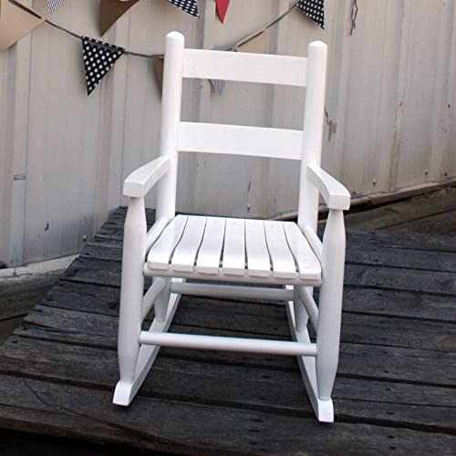 Dixing Seating Slat Seat Child Rocker White