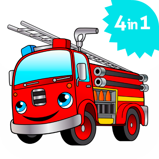 cool big fire truck games for kids free activity app appstore for android. Black Bedroom Furniture Sets. Home Design Ideas