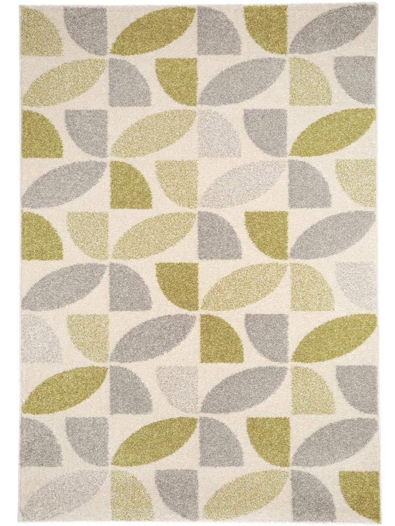 Benuta Teppich Pastel Mosaik Grün 160x230 cm   Moderner Teppich für Wohn- und Schlafzimmer