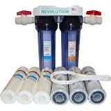 """Reverse Osmosis Revolution 3/4"""" Port Dual Stage Whole House Water Filtration System with Sediment & CTO Filters"""