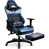 Marvel Avengers Massage Gaming Chair Desk Office Computer Racing Chairs- Recliner Adults Gamer Ergonomic Game Footrest…