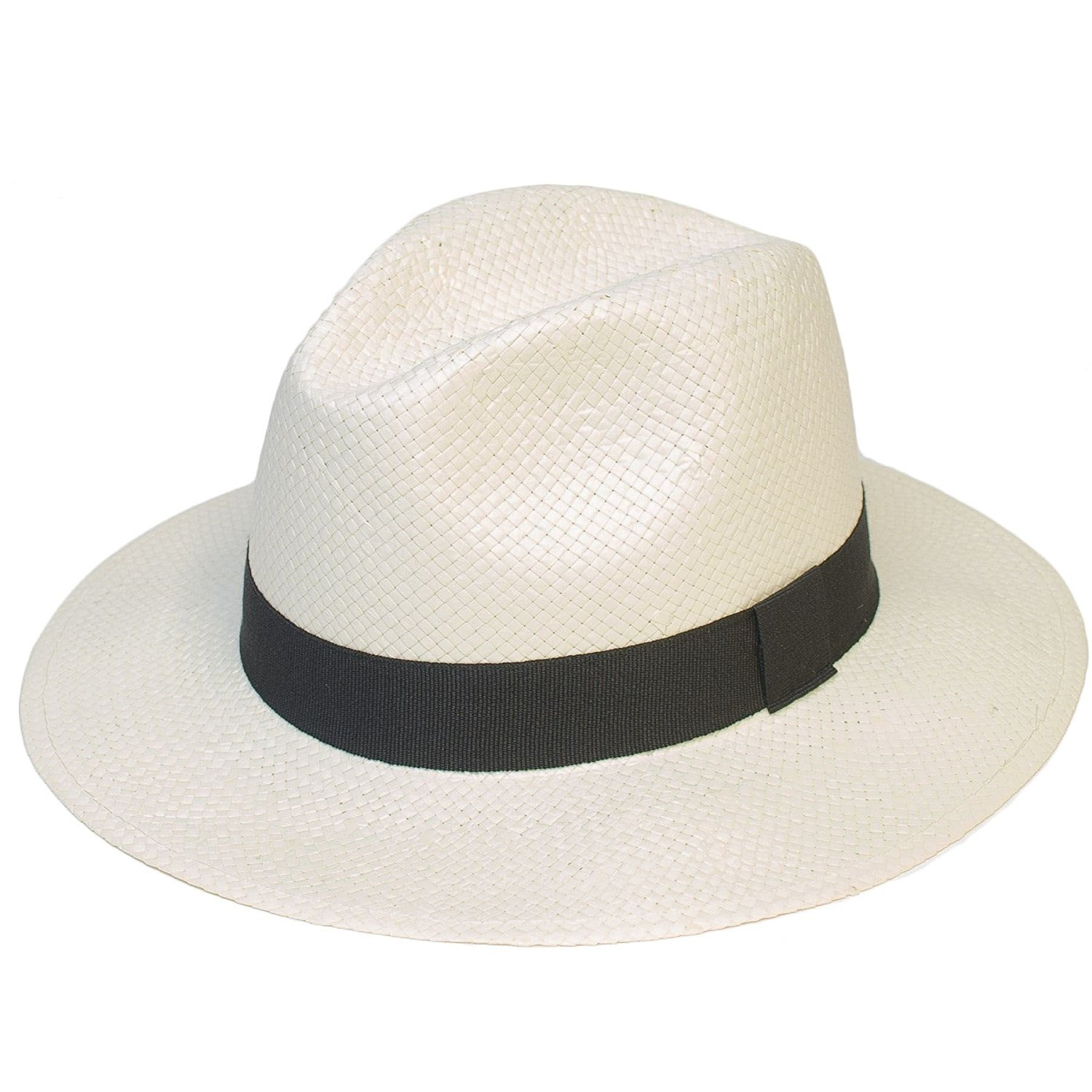 Mens Women Ladies Unisex Summer Plain Woven Panama Hat With Black Band d2d Hats 3321-3369