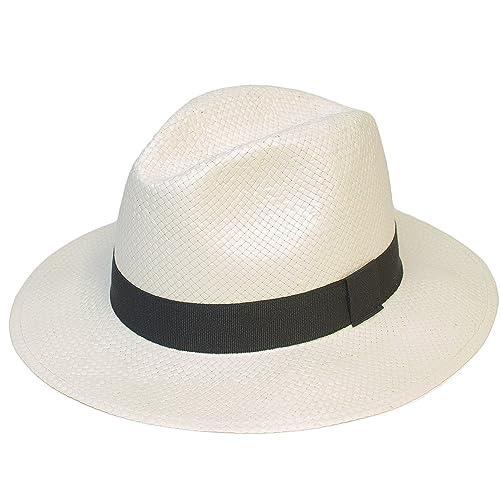 Hombres/Mujer/Unisexo Verano Tejido Panamá/Fedora/Trilby Sombreros/Gorra Nuevo