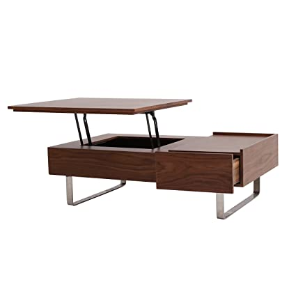 Delicieux Amazon.com: New Pacific Direct Denzel Walnut Veneer Lift Top Coffee Table,  Walnut/Gray: Kitchen U0026 Dining