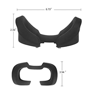 Covos VR Face Cover for Oculus Rift S Silicone Cover Mask, Protective Face Cover Mask, Rift S VR Cover Sweatproof Waterproof LightProof Anti-Dirty Washable(Black)