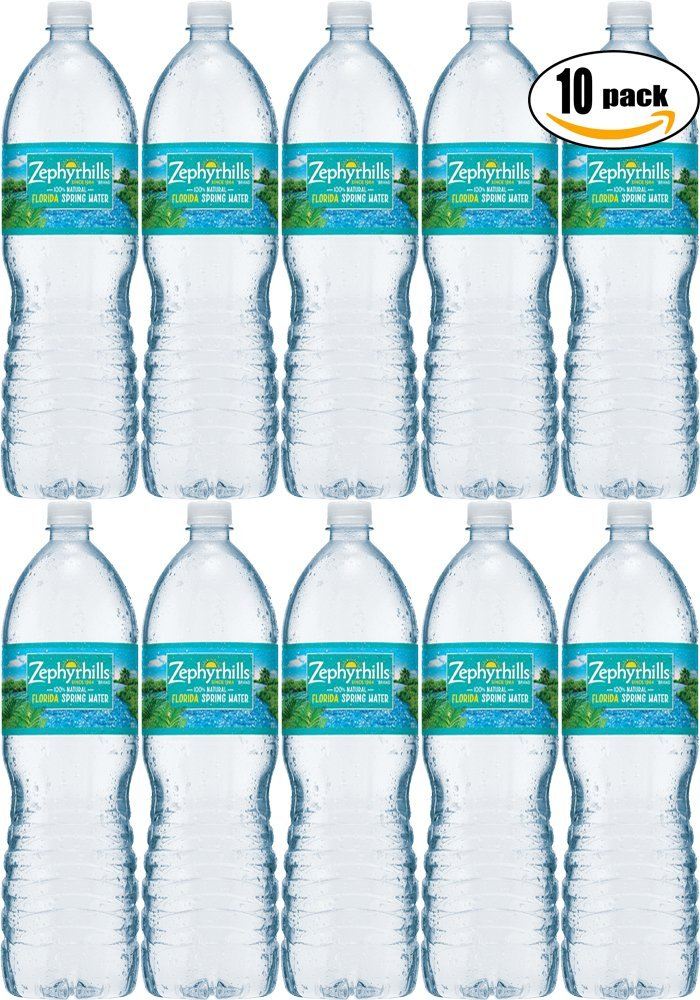 Zephyrhills Natural Spring Water, 16 9 Fl Oz Bottle (Pack of 10, Total of  169 Fl Oz)