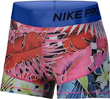Nike Womens Pro 3 Print Chain Feather Short