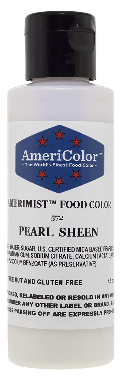AmeriColor Airbrush Food Coloring, Pearl Sheen AmeriMist, 4.5 Ounce