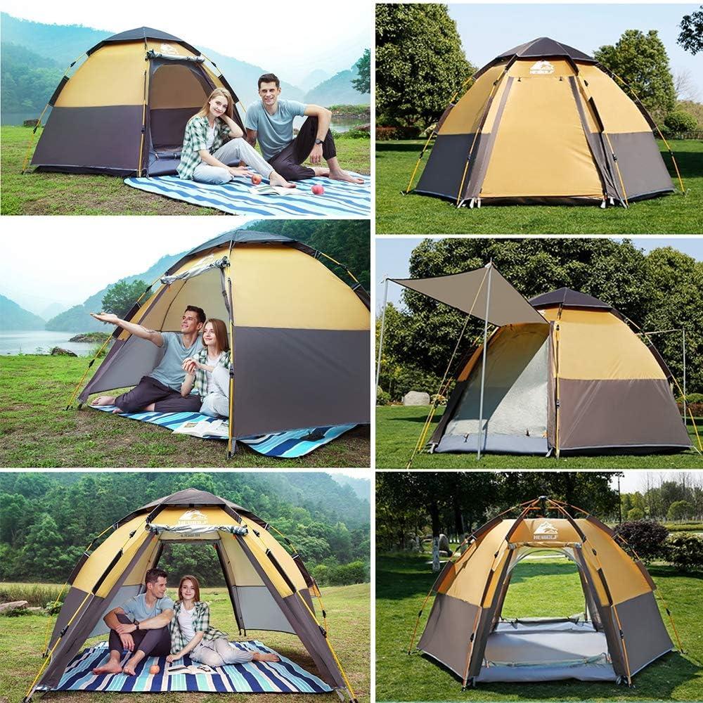 Kking De automatische, regenveilige dubbellaagse tent buitenshuis is geschikt voor 5 tot 8 personen, groen groen