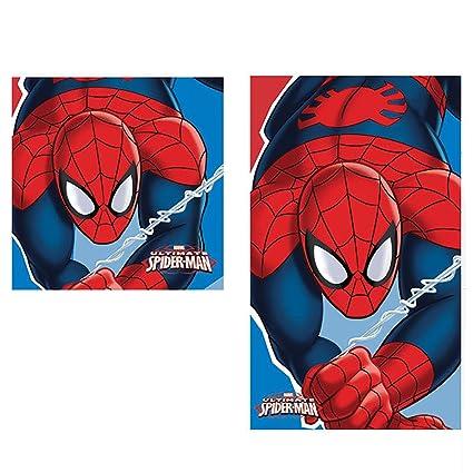 Set toalla manos Spiderman Marvel algodon