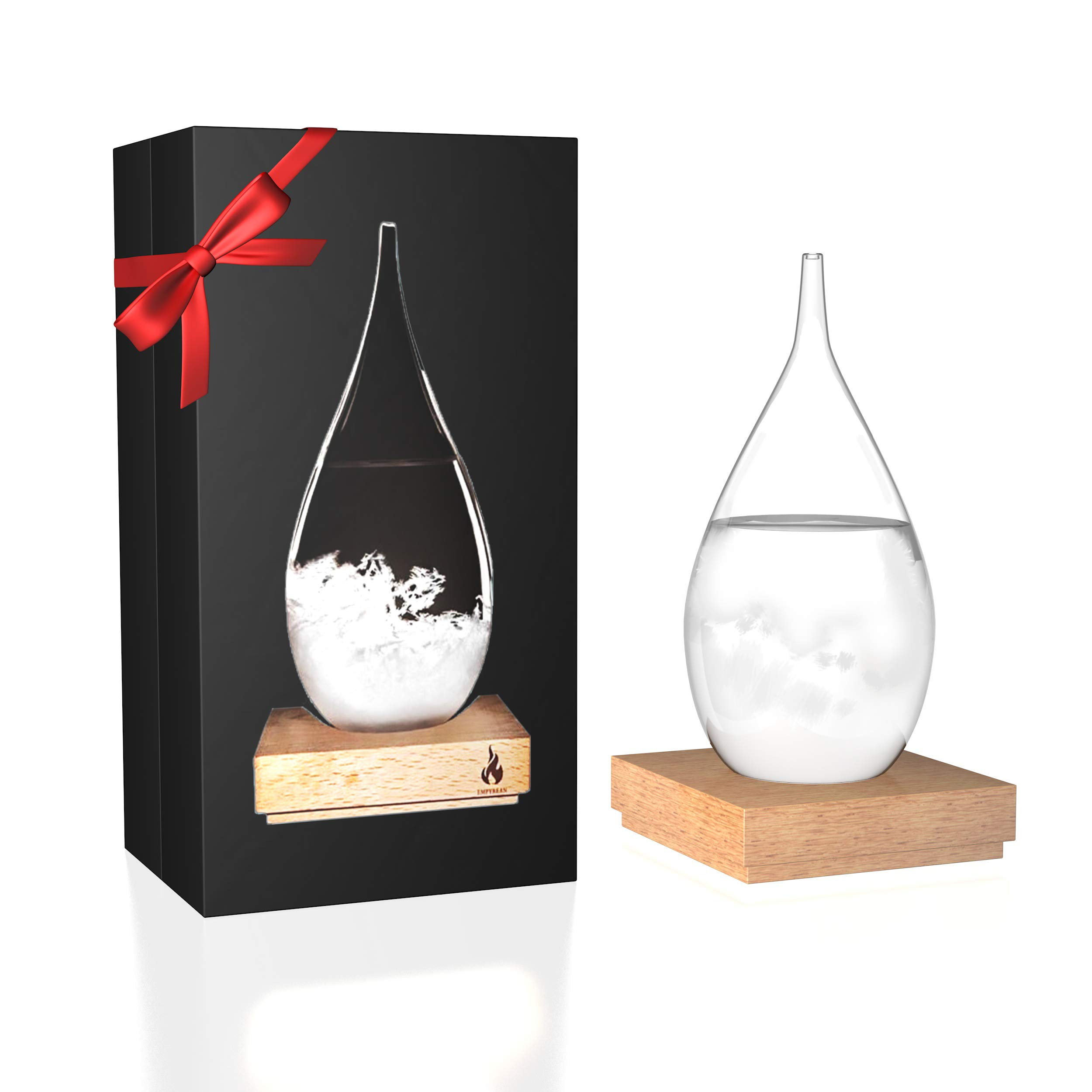 Empyrean Decorative Storm Glass - Water Drop Weather Predictor Creative Forecast Bottle Barometer Weather Glass - 17th Century European Meteorological Stylish Display Large Home Glass Crafts (Large) by Empyrean