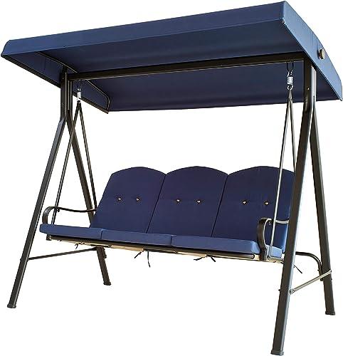 LOKATSE HOME 3-Seats Patio Swing