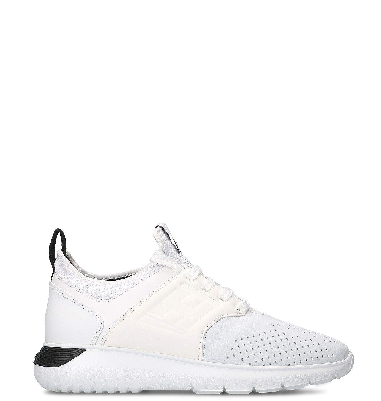- Hogan Men's HXM3710BQ30KUEB001 White Leather Sneakers