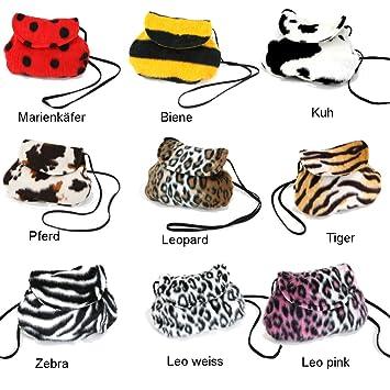 Fries 45705 Pluschtasche Zebra 25 X 20 Cm Fasching Karneval