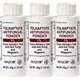 (3 Pack) MAJOR TOLNAFTATE 1% POWDER TOLNAFTATE-1% White 45 GM UPC 309040726452