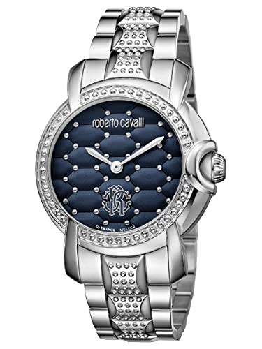 Amazon.com  Roberto Cavalli by Frank Muller QUILTED Silver Blue ... e3369a25ad9
