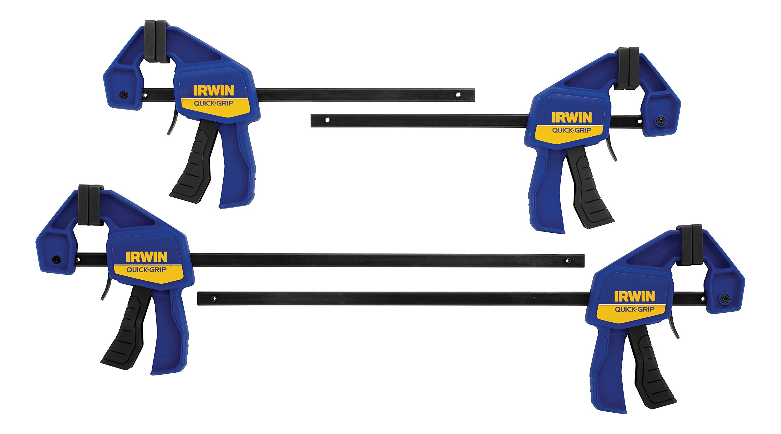IRWINQUICK-GRIPOne-Handed Mini Bar Clamp 4 Pack, (2) 6'', (2) 12'', 1964748