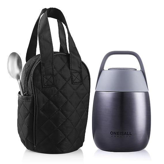 ONEISALL GYBL116 450ML Essen Flasche, niedlich Student Edelstahl ...