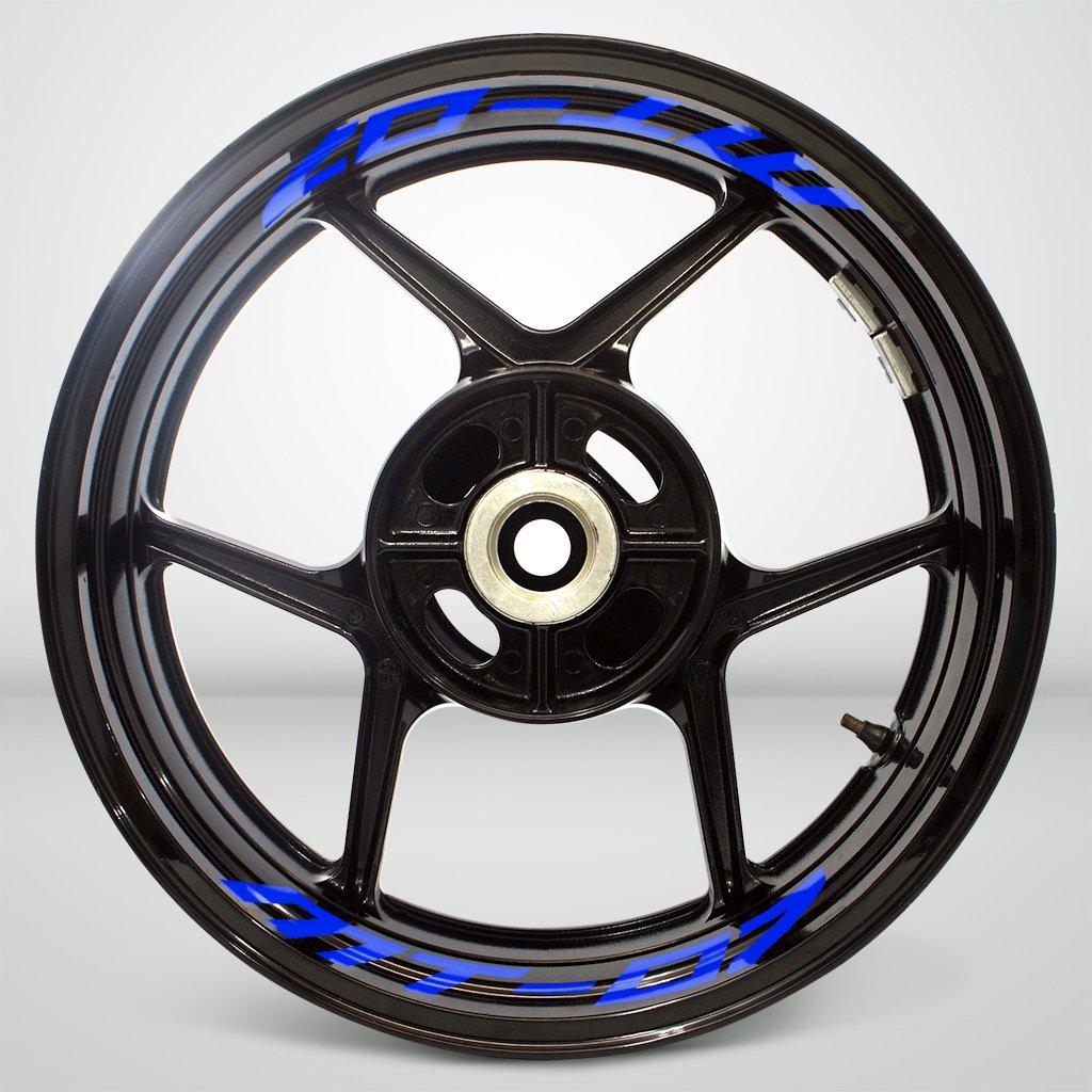 Jaune Fluorescent Autocollant de Jante de Moto Inner Rim Tape pour Yamaha MT07