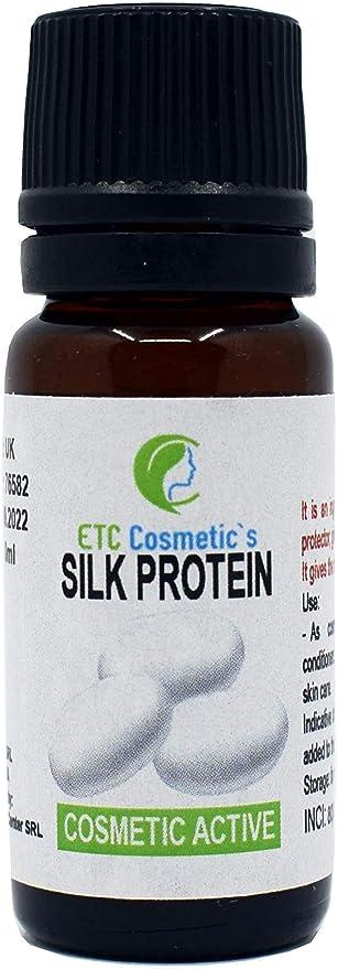 Proteína de seda – 12 gr – como un ingrediente para formulaciones cosméticas, recomendado en todos los tipos de productos para el cuidado de la piel y ...