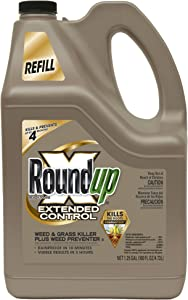Roundup 5708010 Extended Control Weed and Grass Killer Plus Weed Preventer II Ready-to-Use Refill for Comfort Wand or Pump 'N Go Sprayer, 1.25-Gallon