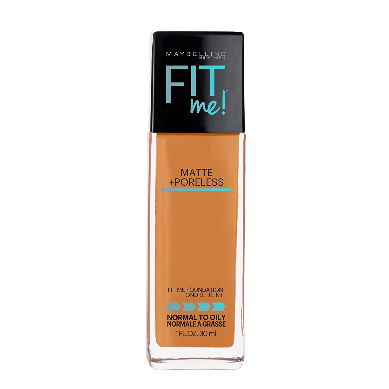Maybelline Fit Me Matte + Poreless Liquid Foundation Makeup, Cappuccino, 1 fl. oz. Oil-Free Foundation