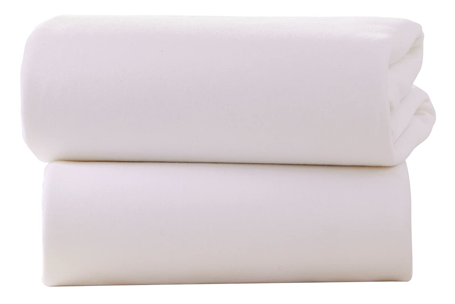 Clair de Lune Crib Cotton Jersey Flat Sheets (Pack of 2, White) CL3024W