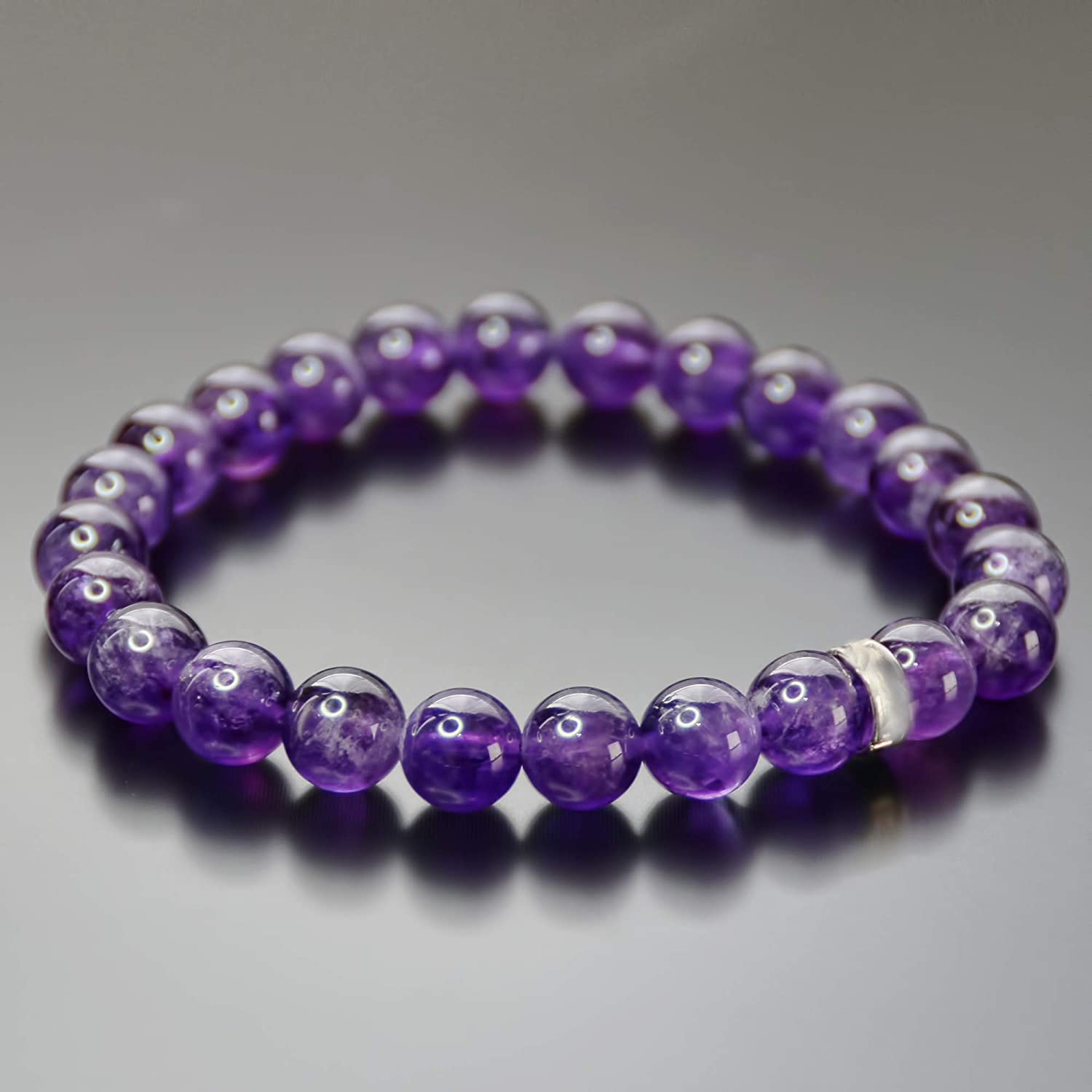 Beaded Bracelet Wife Gift Yoga Jewelry Gift for Girlfriend Amethyst Jewelry Birthday Gift for Women Sister Gift Amethyst Bracelet