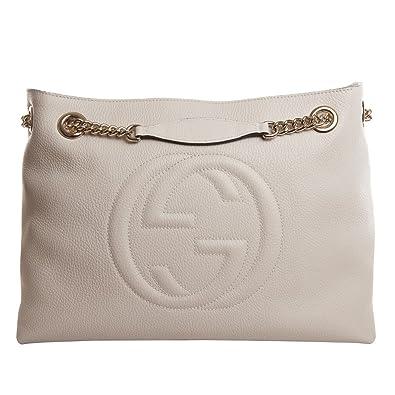 bdc860b489ca Amazon.com: Gucci Soho leather shoulder bag (off-white): Shoes