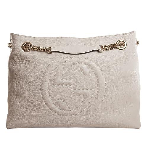 f0edb936 Amazon.com: Gucci Soho leather shoulder bag (off-white): Shoes